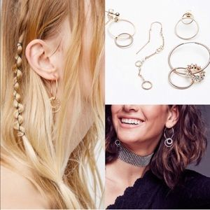 Free People Looped In Hoop Earring Set Earrings